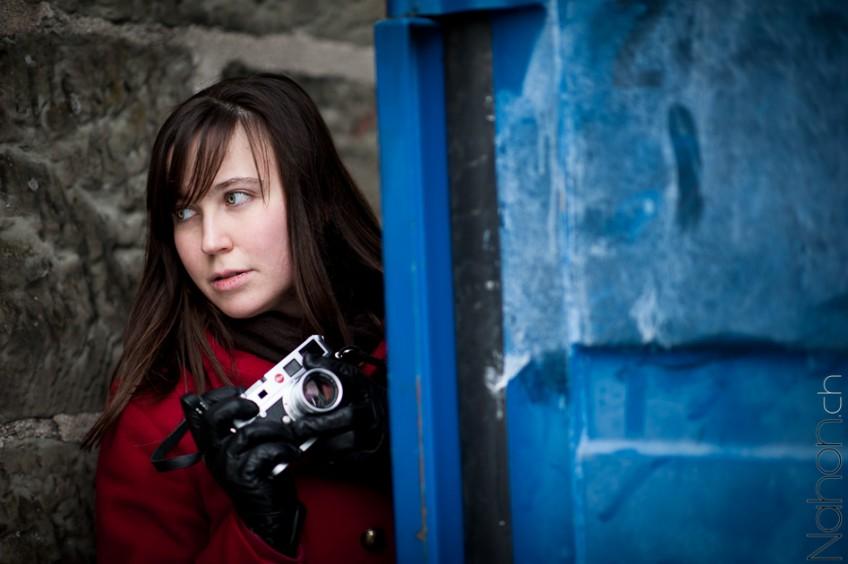 Portrait avec un Leica en plein Lausanne