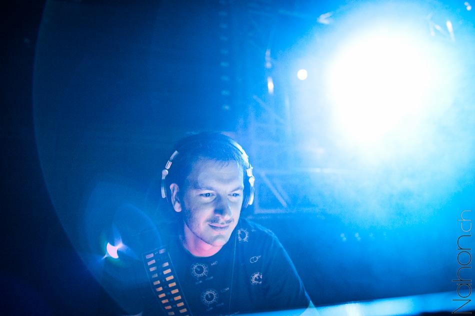 Portrait lors du concert de DJ Limpkin
