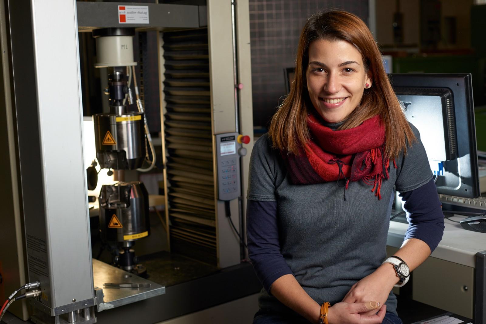 Portrait d'une chercheuse du LMM à l'EPFL